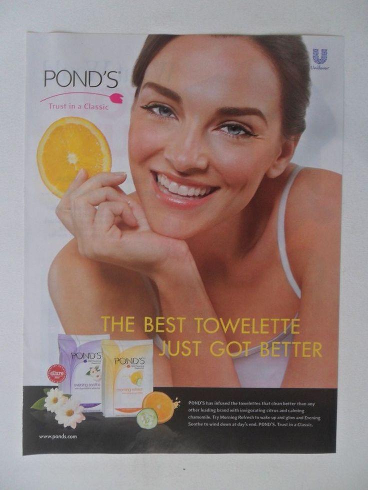 2011 Print Ad Pond's Skin Care Towlettes ~ Trust in a Classic Citrus Scent  | eBay