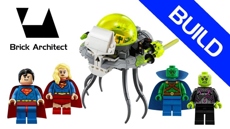 Lego DC Comics Super Heroes - Set 76040 Brainac Attack - Stop Motion Bui...