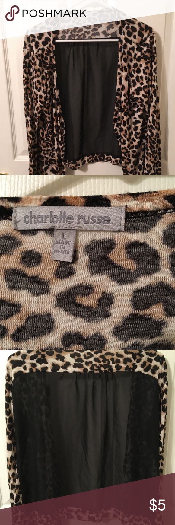 Cheetah cardigan This thin cardigan is wonderful for summer or fall layering! Charlotte Russe Sweaters Cardigans