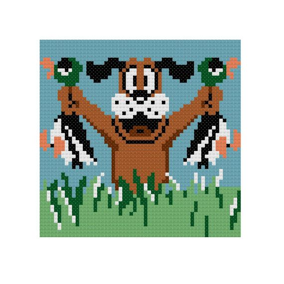 Nintendo Duck Hunt Cross Stitch Pattern by ProjectSally on Etsy