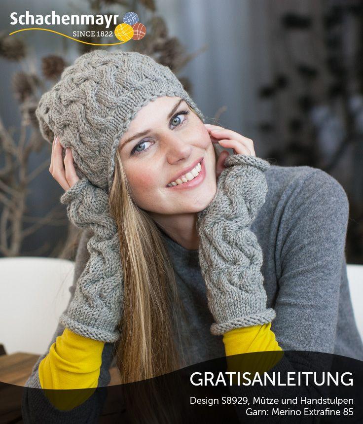 Verführerische und reizvolle Handstulpen mit passender Mütze aus Schachenmayr Merino Extrafine 85. Diese Kombination ist echter Hingucker und zieht Aufmerksamkeit an. #MerinoExtrafine85