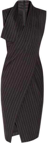 Donna Karan New York Origami Wool-Blend Dress in Gray