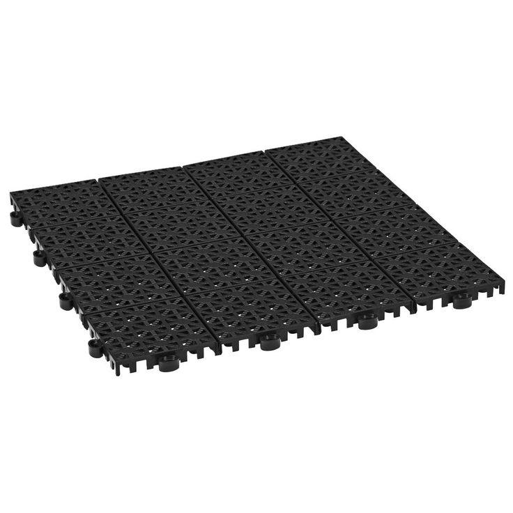 Snygga till balkongen, få en mer lättskött tvättstuga eller ett stiligt bil- och kemikaliemotständigt garagegolv! Starka plattor som finns i flera färger som du kan kombinera i finurliga mönster. Av UV-stabiliserad, återvunnen PP-plast.