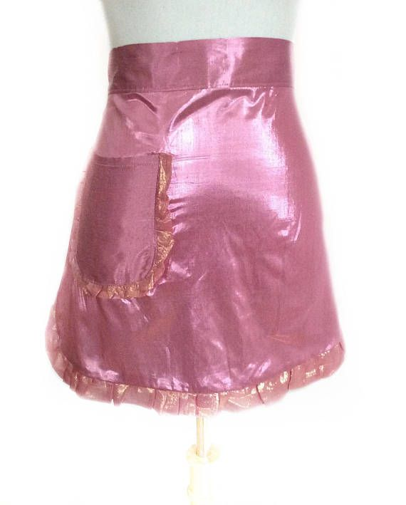 Check out Sparkly Pink Apron with Pocket, Valentines Gift for Girlfriend, Handmade Pink Brides Apron, Wedding Dance Apron, Retirement Gift for Her on blingscarves