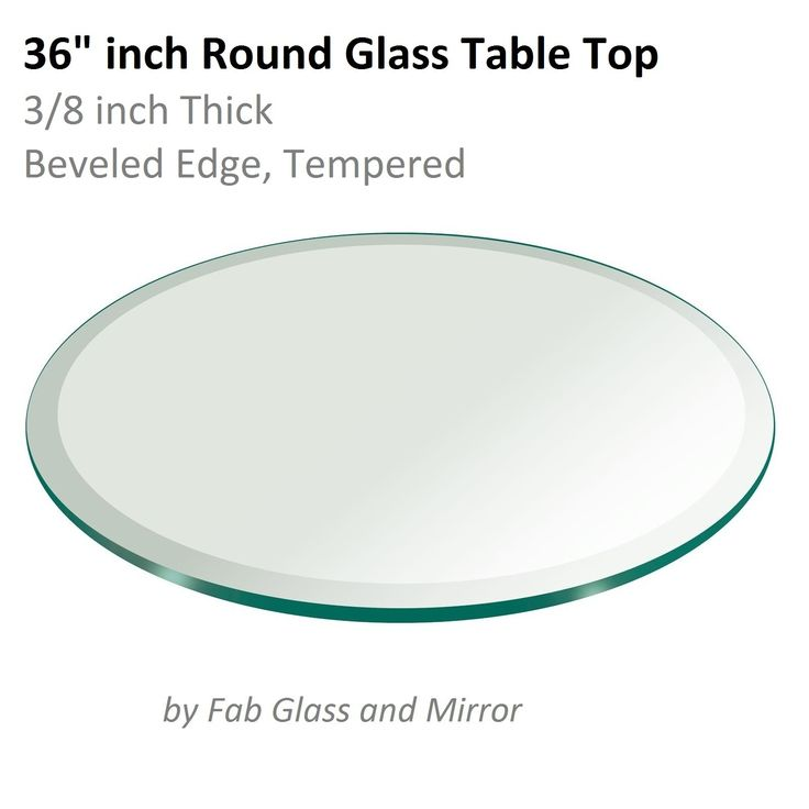 36 Round Beveled Glass Table Top