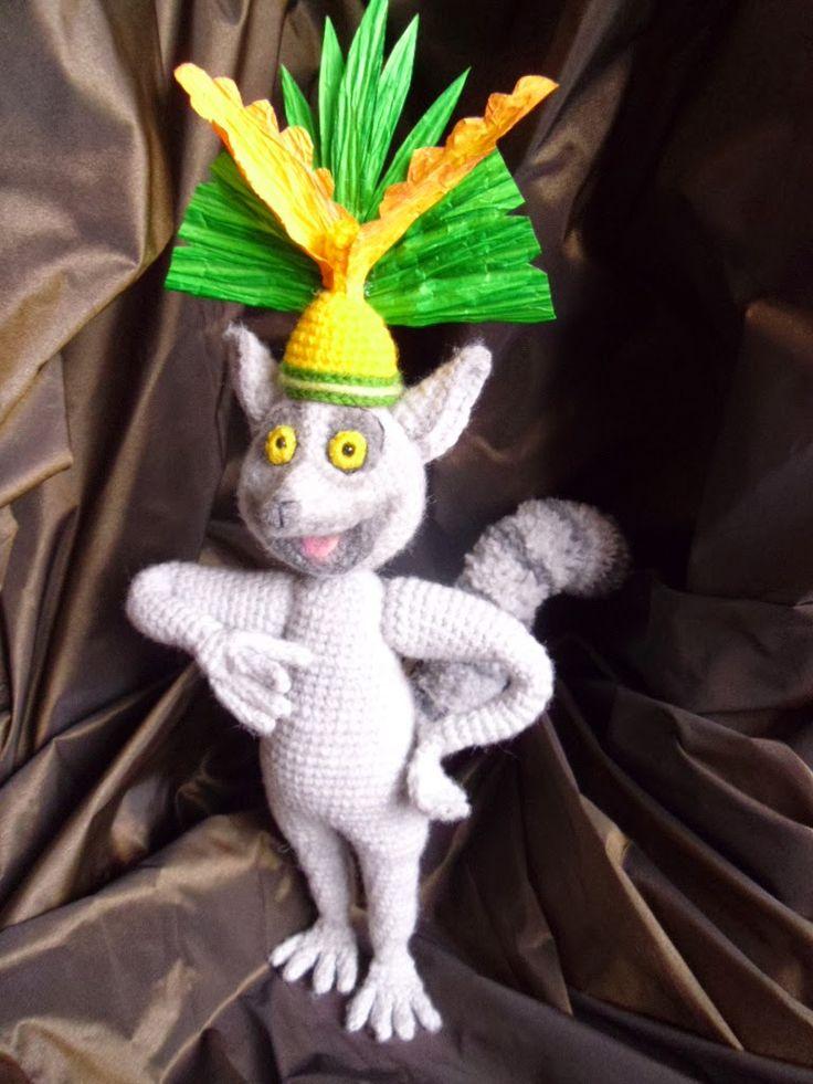 Król Julian /King Julien / szydełko / crochet