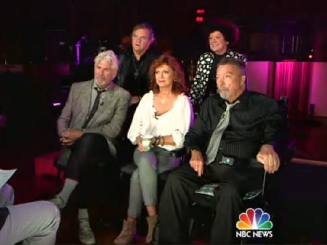 Reunited ... the cast of The Rocky Horror Picture Show is back together. Picture: Today/NBC