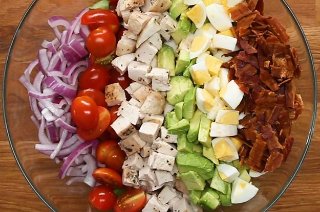 Chicken Cobb Ranch Salad With Homemade Ranch