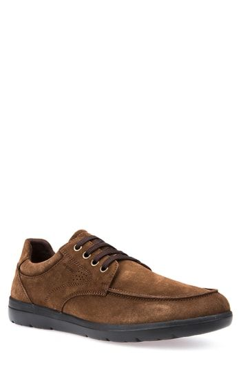 49c58bf906 GEOX LEITAN 4 MOC TOE DERBY.  geox  shoes   Brown Leather
