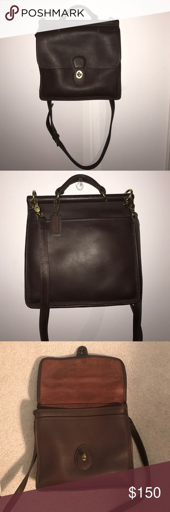 "⚡️LOWEST PRICE! Coach Leather Bag Vintage leather Coach Messenger bag in good condition. Dimensions are 10""x10.5"". Over the shoulder adjustable strap. Minor wear. Feel free to make an offer! :) Coach Bags Crossbody Bags"