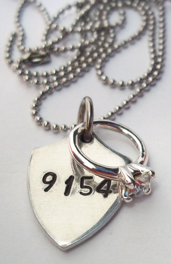 Police Wife Necklace Police Jewelry Police Badge By
