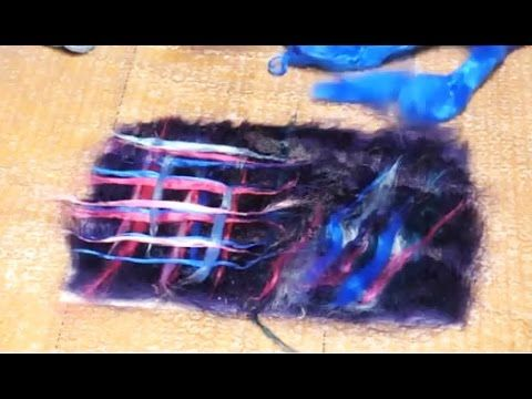 Разные способы раскладки вискозы в мокром валянии: видеоурок - Ярмарка Мастеров - ручная работа, handmade