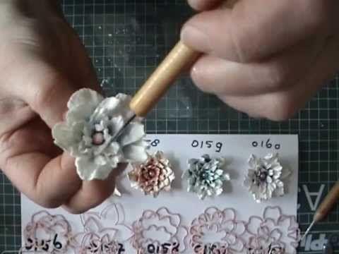 Tutorial- Paper flowers using joycraft dies by Mallika - YouTube