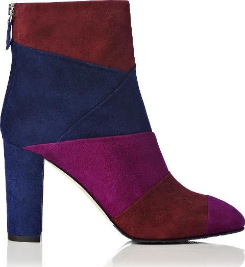 Fianna Suede Block Heel Ankle Boot Multi. Fianna is your statement wardrobe hero this season. These beautiful ankle boots are finished in dramatic colour block patchwork suede. The 90mm heel and almond toe gives this boot a classic silhouette. Effortlessly chic 70s style.  #LKBennett #Blue #marsala 3maganta #navy #stilettos #heels #Ankle Boots #Women #aw16 #fall16 #fashion #obsessory #fashion #lifestyle #style #myobsession