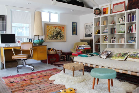 Shayne + Andrew HouseTour-on AT designed by my sis @Call Me Faith: Spaces, Living Rooms, Inspiration, Apartment Therapy, Families Eclectic, Bookca, Houses Tours, Home Offices, Eclectic 100Yearold