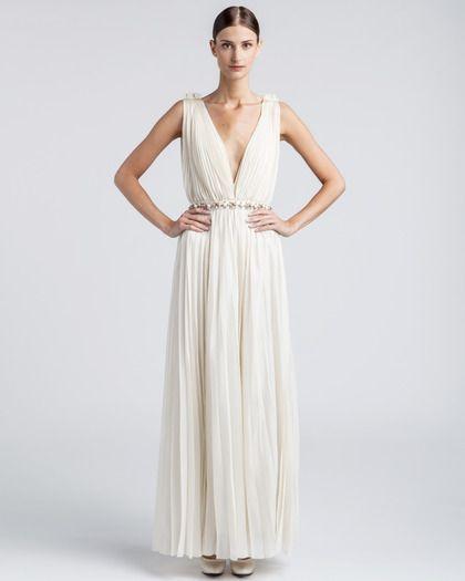 Robe longue de mariée esprit toge grecque - Robe: Lanvin Bridal - La Fiancée du Panda blog Mariage et Lifestyle