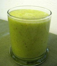 Banana Apple Zucchini Smoothie Recipe  1 organic banana, peeled  1 large organic apple, cored  1 organic zucchini, chopped  4 to 6 ounces of filtered water