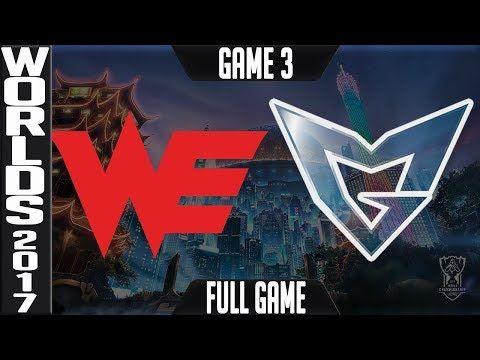 Team WE vs Samsung Galaxy Game 3 | Semi-finals Lol World Championship 2017 | WE v SSG G3