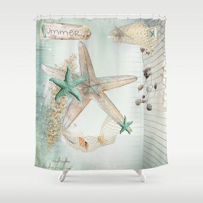 Summer Sea Treasures Beach Shower Curtain
