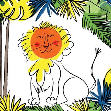 jolly lion print by colene blanchet