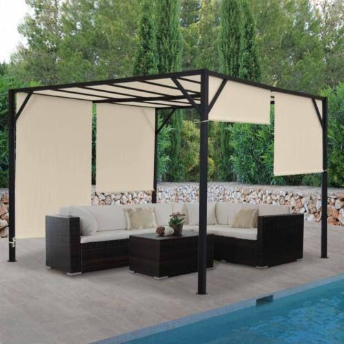Pergola-Baia-pavillon-de-jardin-6cm-Acier-Chassis-toit-ouvrant-3x3m-4x3m- et pour 414 € fdp inclus pour le 4x4m