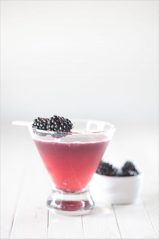 st. germain + blackberry cocktail.