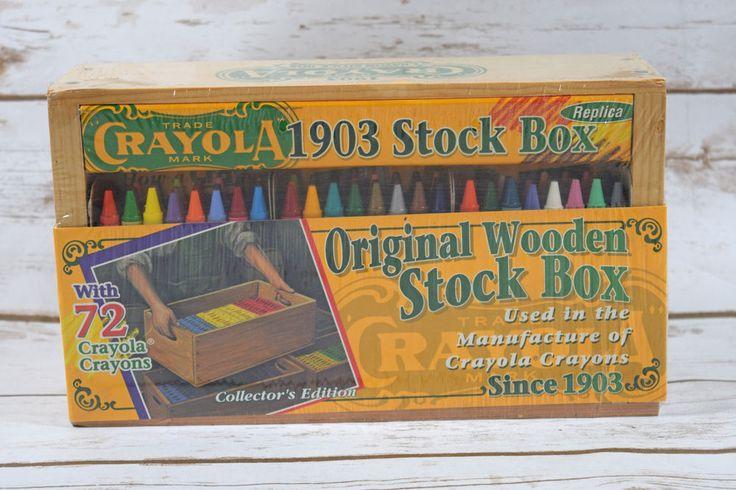 1997 Crayola 1903 Stock Box Replica Wooden Box with 72 Crayons  NIP #BinneySmith