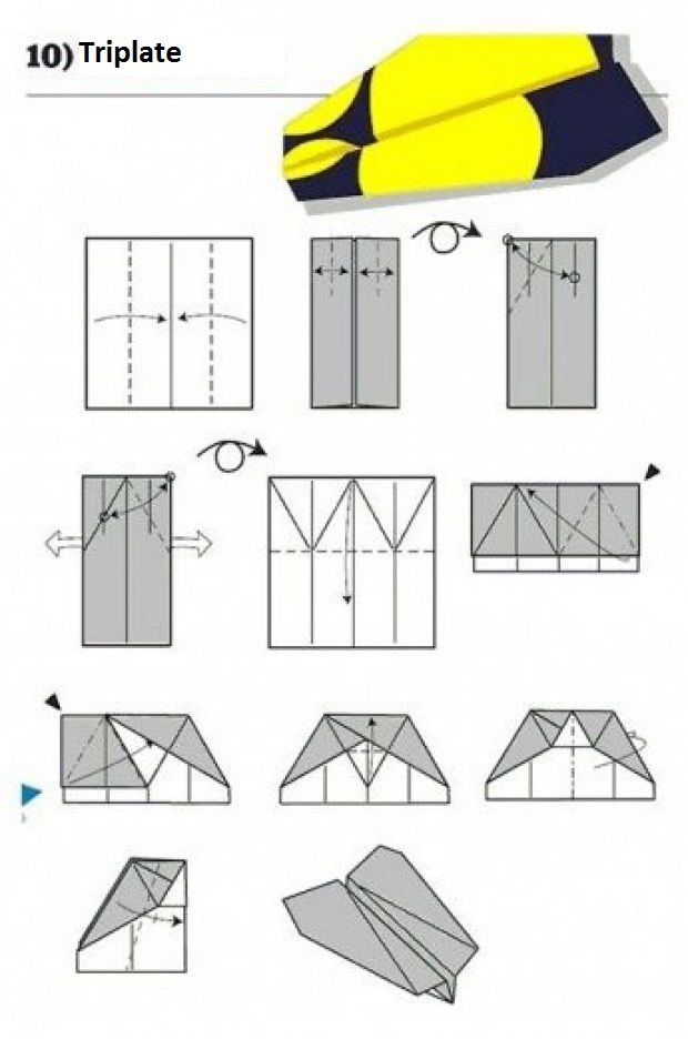 Vlaštovka z papíru  - Triplate