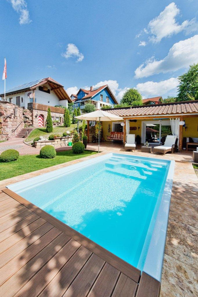 Gunstiger Pool Im Garten Outdoor Pinterest Pool Im Garten
