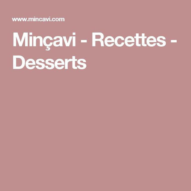 Minçavi - Recettes - Desserts