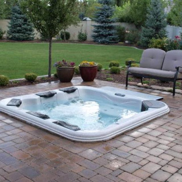 Sunken Hot Tub W Pavers Love The Sunken Idea For Back