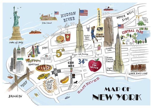 Best US Maps Images On Pinterest Cities New York City And - New york city map drawing