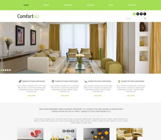 23 Best Interior And Furniture Responsive Mobile Web Templates Images On Pinterest Mobile