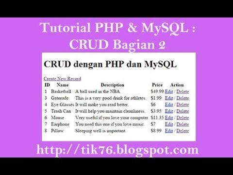 PHP & MySQL CRUD dengan PHP dan MySQL bagian 2