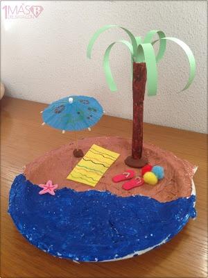 Una más del batallón: Manualidades de verano: una playa en un plato