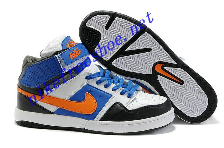 premium selection 221ac f916f Nike 6.0 Mogan Mid 2 Mens Royal Blue Orange Black White