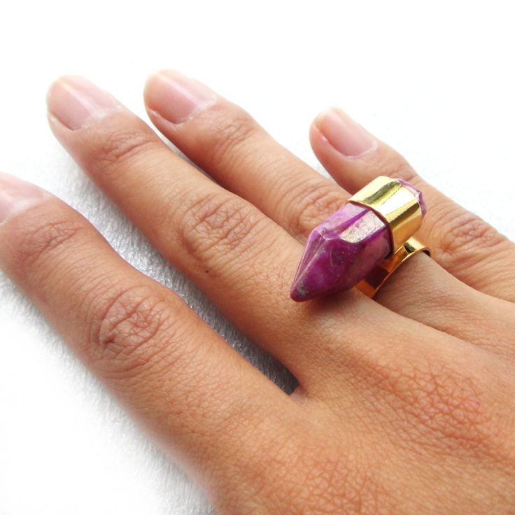 Amatist gold filled ring