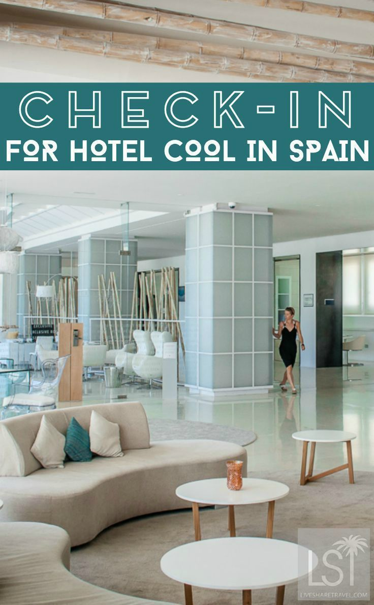 Take a look at the contemporary hotel interior design of Spain's Costa del Sol. We checked-in to the Hotel Fuerte Miramar in Marbella, in Andalucia, with its own beach club, rooftop bar and plenty of light, bright, cool design at this luxury travel retreat.