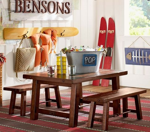 Benchwright Table & Bench {play room}