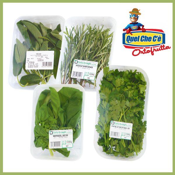 Salvia, Rosmarino, Basilico e Prezzemolo. Aromi utilizzati in cucina per insaporire gli alimenti arricchendone il gusto. Confezione p.v. a solo € 0,99!!!