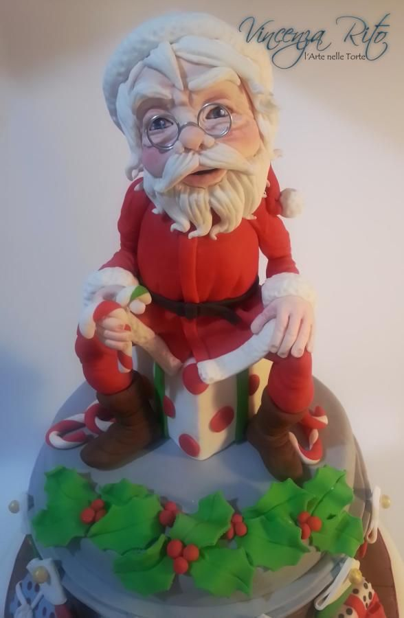 Santa Claus - Cake by Vincenza Rito - l'Arte nelle torte
