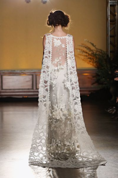 Amazingly Pretty Back Lace Detail on a Wedding Dress from Claire Pettibone // See 40+ of the Most Beautiful Wedding Dresses from Bridal Fashion Week 2016: (http://www.racked.com/fashion/2015/10/12/9482577/marchesa-monique-lhuillier-bridal-fashion#4852098)