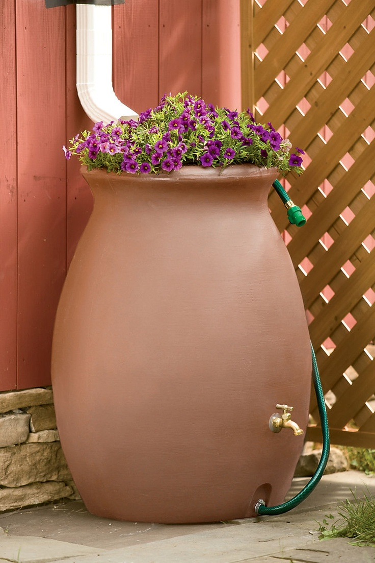 Rain Catcher Urn 50 Gallon, Rain Barrel | Buy from Gardener's Supply