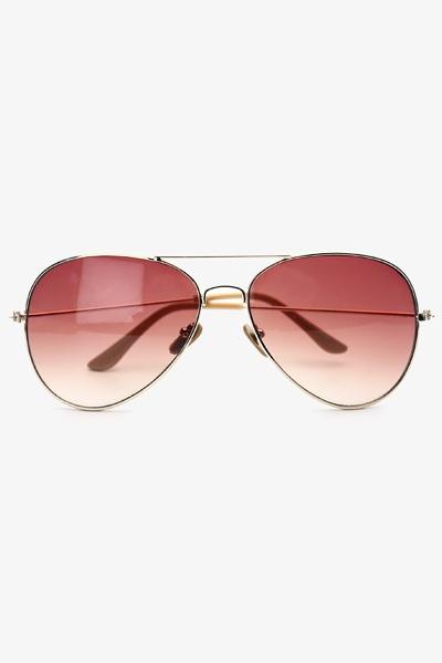 Unisex 58mm Metal Gradient Aviator Sunglasses - Gold - 1160-2