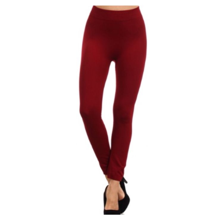 """Your New Favorites! Must Have """"Amazing"""" No Peek-a-Boo See Through Burgundy Leggings - Cheryl's Galore and More"""