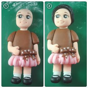 bakery cook and tips: Fondant Figures Tutorial - Little Girl