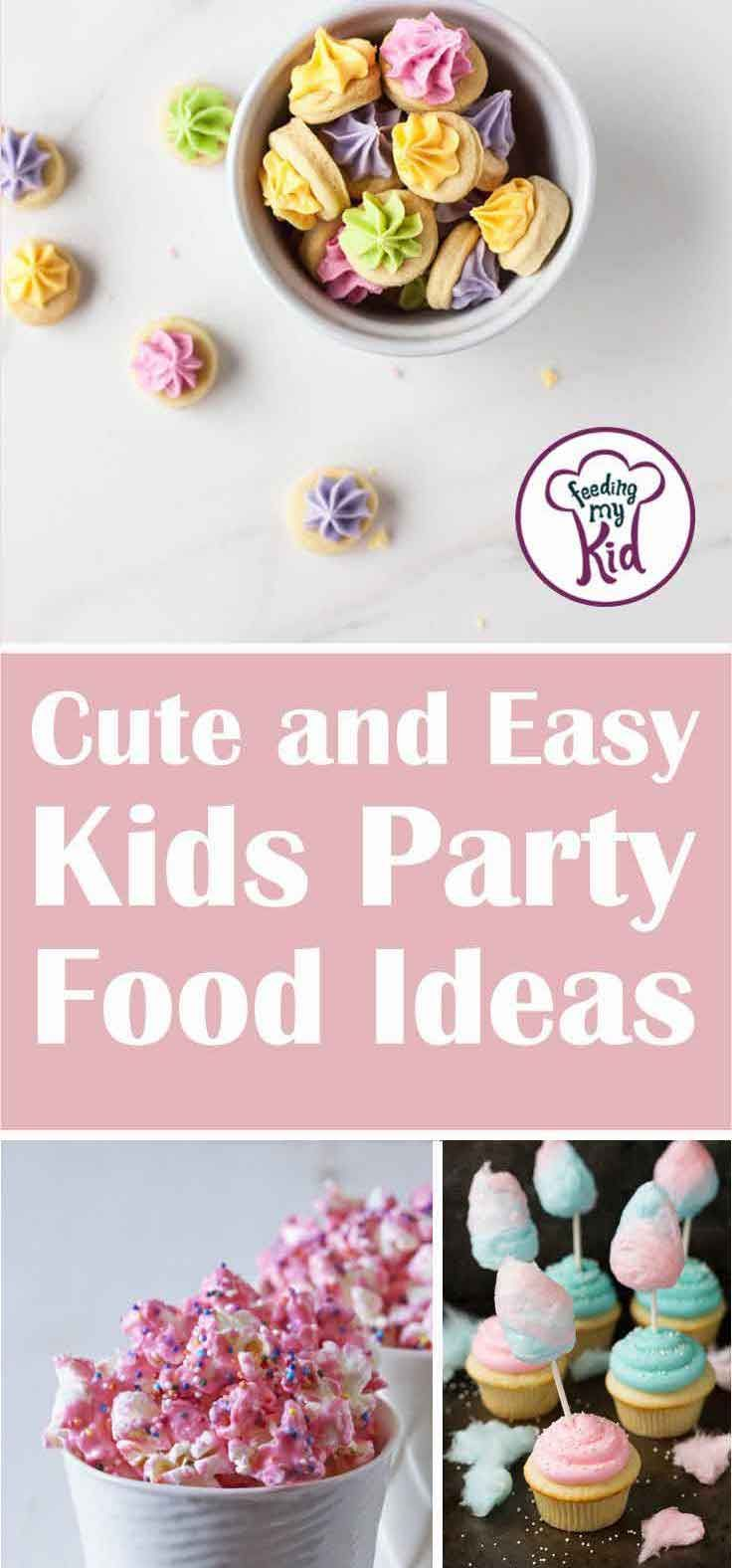 These kids party food ideas are the perfect treats to serve at any party. They're super simple and easy. Your guests will love these!