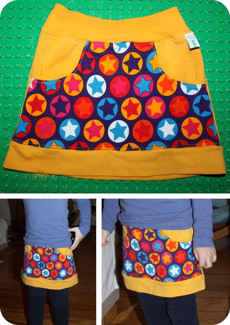 "Kinderrock Gr. 110 nach dem freebook ""little Sweat Skirt"" von Lin-Kim (https://freebookslinkim.wordpress.com/2015/08/05/little-sweat-skirt/)"