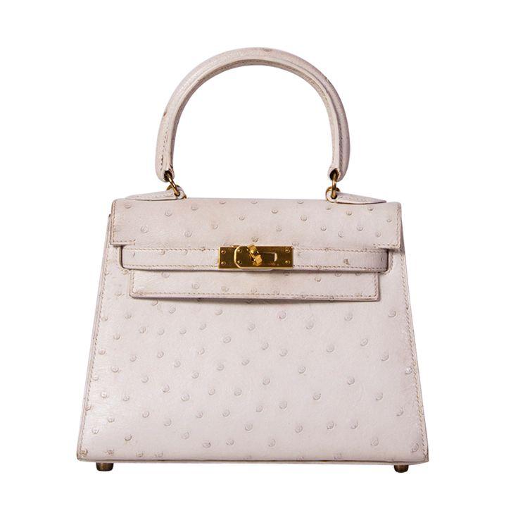 Hermes mini kelly bag ostrich 20 cm white | Kelly Bag, Hermes and ...