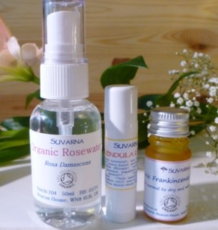 Suvarna Organic Skincare Gift Set - for your face and lips, take care of them naturally this winter